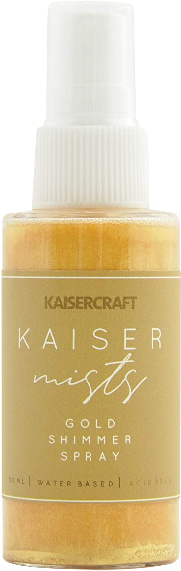 Kaisercraft KM132 KaiserMists Iridescent Ink Spray 1.5oz-Gold Shimmer