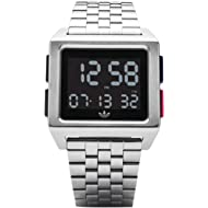 Adidas Men's Digital Watch with Stainless Steel Strap Z01-2924-00