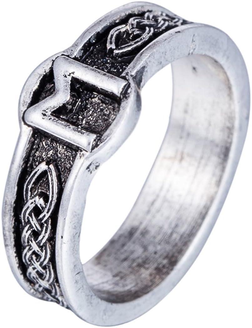 Skyrim Wicca Religious Norse Viking Irish Knot Amulet Runes Ring(Size 8)
