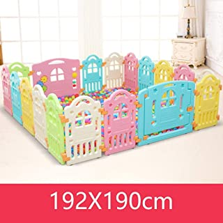 WANNA ME Baby Playpen Children s play fence baby fence indoor crawling toddler safety fence plastic toys Strong And Durable Made From Non-To  color Size 192X190cm