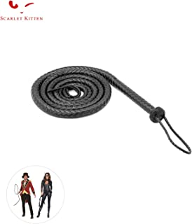 SCARLET KITTEN Cowboy Whip Cat Woman Long Whips Costumes Supplies for Halloween Costume Accessories 5.3ft/1.6m, Black