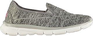 Slazenger Women Zeal Slip On Ladies Shoes Trainers Greymarl/White 7 (40)