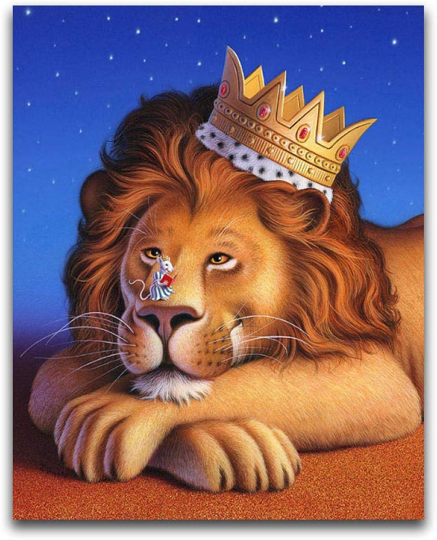 envío gratuito a nivel mundial 5D DIY Pintura Diamante Tigre Completo Completo Completo rojoondo Bordado de Punto de Cruz Bordado Colorido León Mosaico Ratón de Dibujos Animados, 80X100Cm  100% autentico