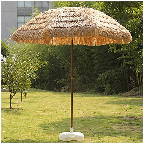 MXBC Ombrello Tropicale Palapa con Tetto in Paglia,Ombrellone da Spiaggia in Stile Hawaiano con Inclinazione per Giardino Patio Piscina Cortile Colore Naturale
