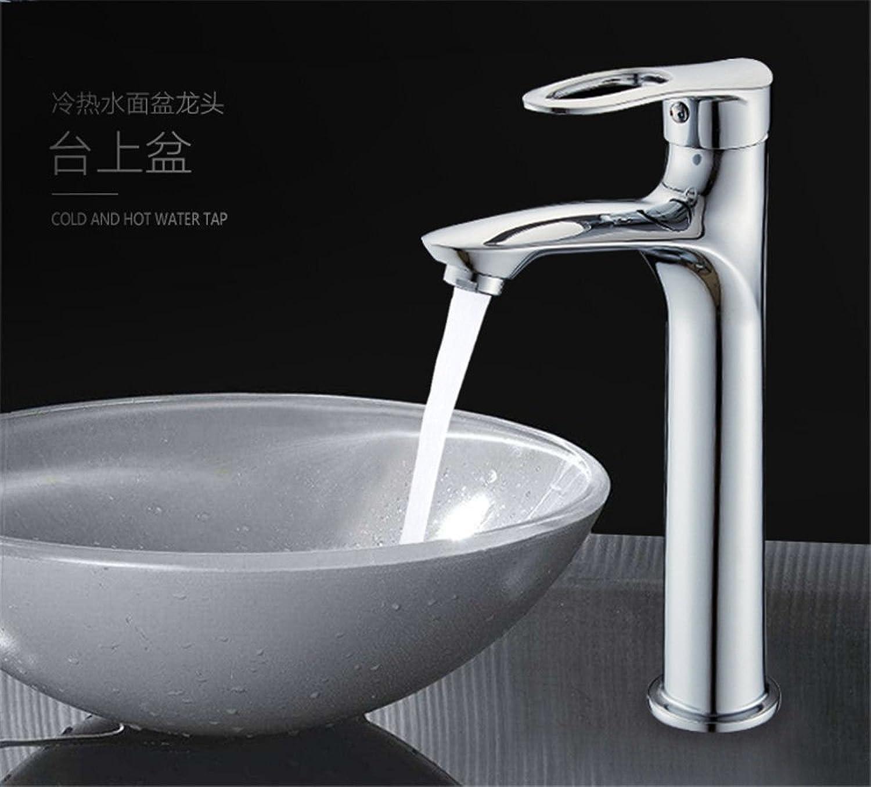 ETERNAL QUALITY Waschbecken Wasserhhne Kupfer Becken Heien Und Kalten Wasserhahn Erhhung Einloch-Aufsatz-Waschtischmischer
