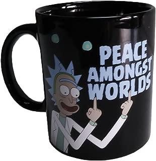 Rick and Morty Print Coffee Mug Cup - Peace Amongst Worlds
