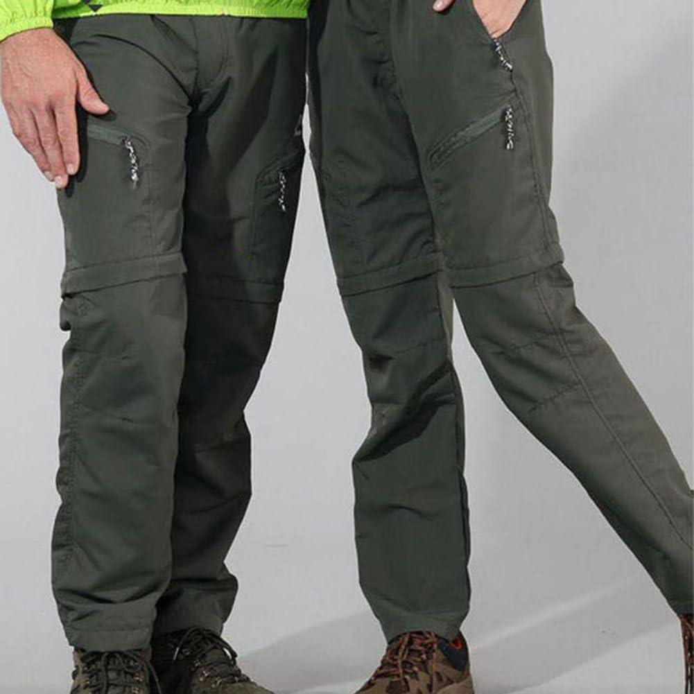 Okay Pantalones de Senderismo Convertibles al Aire Libre de Los Hombres Pantalones Transpirables Ligeros de Secado R/ápido Resistente al Agua Camping Trekking Monta/ña
