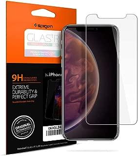 Spigen GLAS.tR Slim Cam Ekran Koruyucu iPhone XS / iPhone X ile Uyumlu / Maksimum Koruma