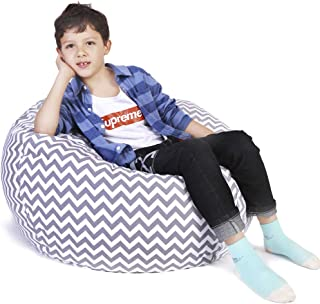 Lukeight Stuffed Animal Storage Bean Bag Chair, Bean Bag Cover for Organizing Kid's..