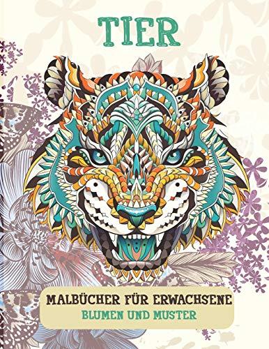 Malbücher für Erwachsene - Blumen und Muster - Tier
