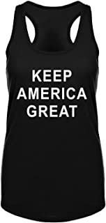 GROWYI Funny Workout Tank Tops Racerback for Women with Saying Keep America Great Political Fitness Gym Sleeveless Shirt B...