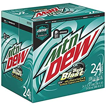 Mountain Dew Baja Blast 12 fl oz cans 24 count  packaging may vary