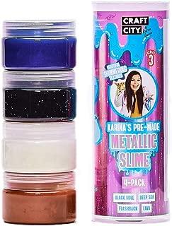 Craft City Karina Garcia Metallic Slime   4 Pack   Pre-Made Slime   Ages 8+