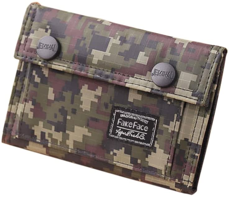 Mens Camouflage Wallet Money Clip Retro Coin Purse Card Holder Cash Change Pocket