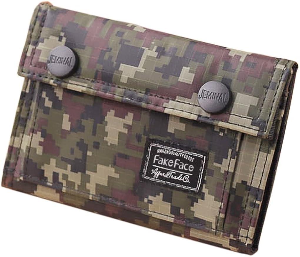 Mens Boys Camouflage Casual Thin Bi-fold Wallet Card Cash Cases Purse Money Clip