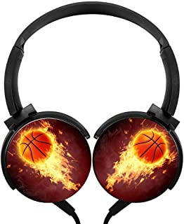 Fire Power Basketball Wired Stereo Headphone Noise Cancelling Over Ear Portable Headset Earphone Earpiece