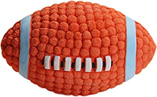 BESTOYARD Pet Dogs Rubber Toy Sound Squeaker Rugby Balls Toys for Pet Puppy Dogs Teeth Training Supplies