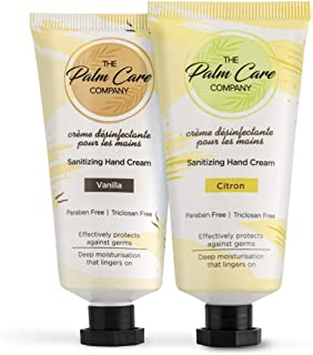 The Palm Care Company Combo of Vanilla and Citron Sanitizing Hand Cream for Women and Men | Light and Non-greasy for Soft...