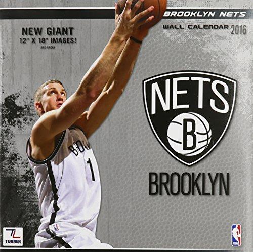 Turner Brooklyn Nets 2016Team Wand Kalender, September 2015–Dezember 2016, 30,5x 30,5cm (8011871)