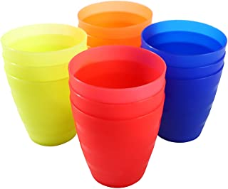 NWK Kids' Party Cups - 8 oz Kids Drinking Cups 12 Pack Fine Grind Party Cup in 4 Assorted Color