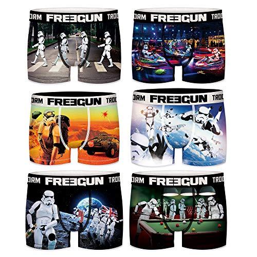 Freegun 6 Boxershorts für Kinder, Star Wars Stormtrooper Gr. 10/12 Jahre, Stormtrooper 02