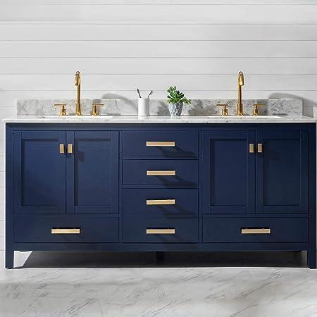 Luca Kitchen Bath Lc61cew Geneva 61 Double Vanity Set In Espresso With Carrara Marble Top Sink And Mirror Amazon Com