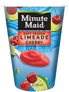 Minute Maid Soft Frozen Cherry Limeade Cups, 12 Ounce -- 12 per case.