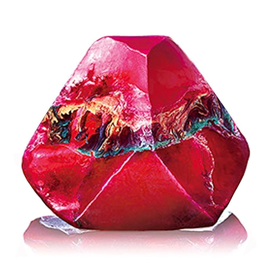 円形にもかかわらずとまり木Savons Gemme サボンジェム 世界で一番美しい宝石石鹸 フレグランス ソープ ガーネット ミニ 114g