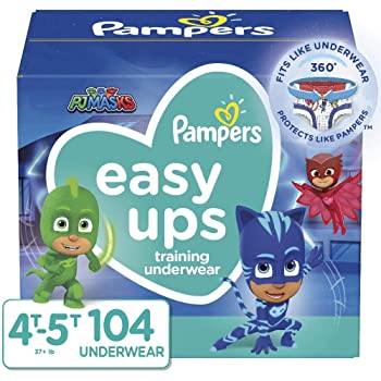 Pampers Easy Ups Training Pants Boys and Girls, Size 6 (4T-5T), 104 Count