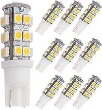 GRV T10 Wedge 921 194 25-3528 SMD LED Bulb lamp Super Bright Warm White DC 12V Pack of 10