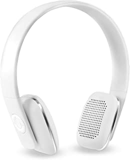 Innovative Technology Rechargeable Wireless Bluetooth Modern Headphones with Rubberized Finish, White