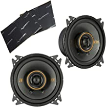 "$89 » Kicker 47KSC404 Car Audio 4"" Coaxial 300W Peak Full Range Speakers Pair KSC404 Bundle with Harmony Audio Sound Dampening S..."