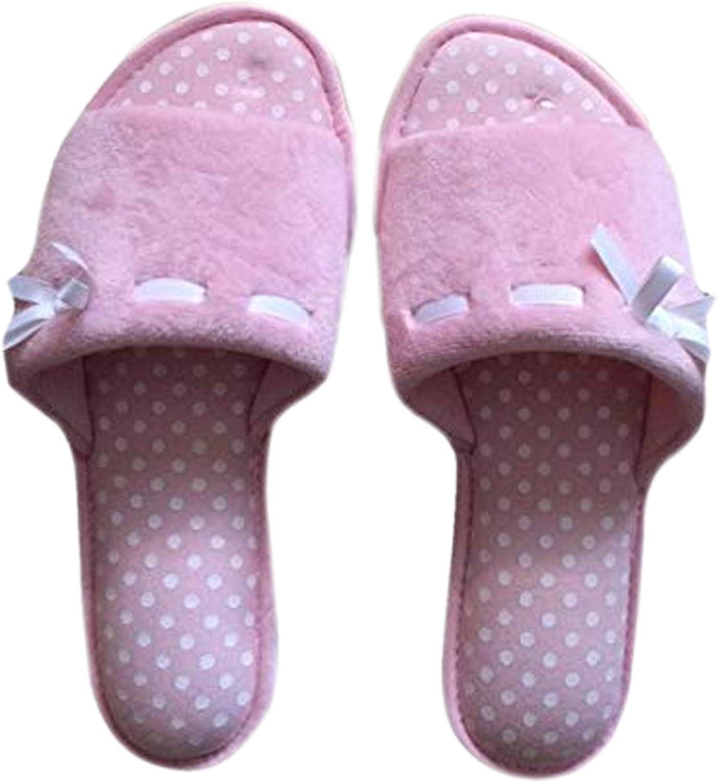 Dearfoams Womens Slippers Pink Polka Dot Slip On Memory Foam