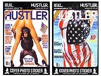 【アメリカン セクシー ステッカー 2PCセット ハスラー(C)HUSTLER 】ブランド スーツケース かっこいい バイク 車 エロステッカー アメリカン雑貨 アメリカ雑貨 ガレージ