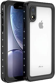 Alohelo iPhone XR Waterproof Case, IP68 Certified Waterproof Shockproof Dirtproof Snowproof Full Body Sealed Underwater Protective Case Compatible for XR (Clear)