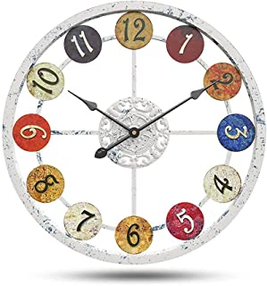 """Decorative wall clock Numeral Wall Clock,24"""",Multicolor,Round Oversized Centurion Roman Numeral Style Home Décor Analog Me..."""