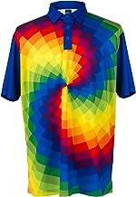 ReadyGOLF Mens Golf Polo Shirt - Tie Dye Large