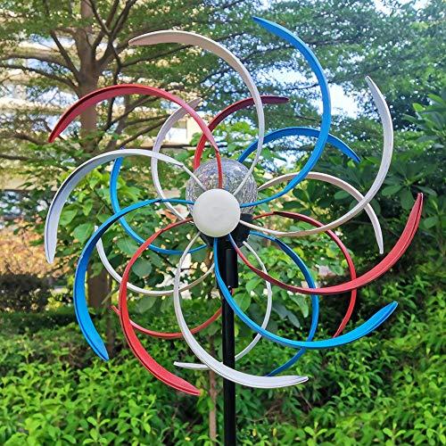 NIBLY Rainbow Solar Wind Spinner Warm White LED...