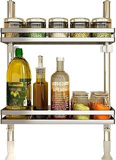 BALLYE Organisateur étagères de Rangement étagère de Cuisine 304 Acier Inoxydable sans poinçon étagère à épices sur Pied 2...