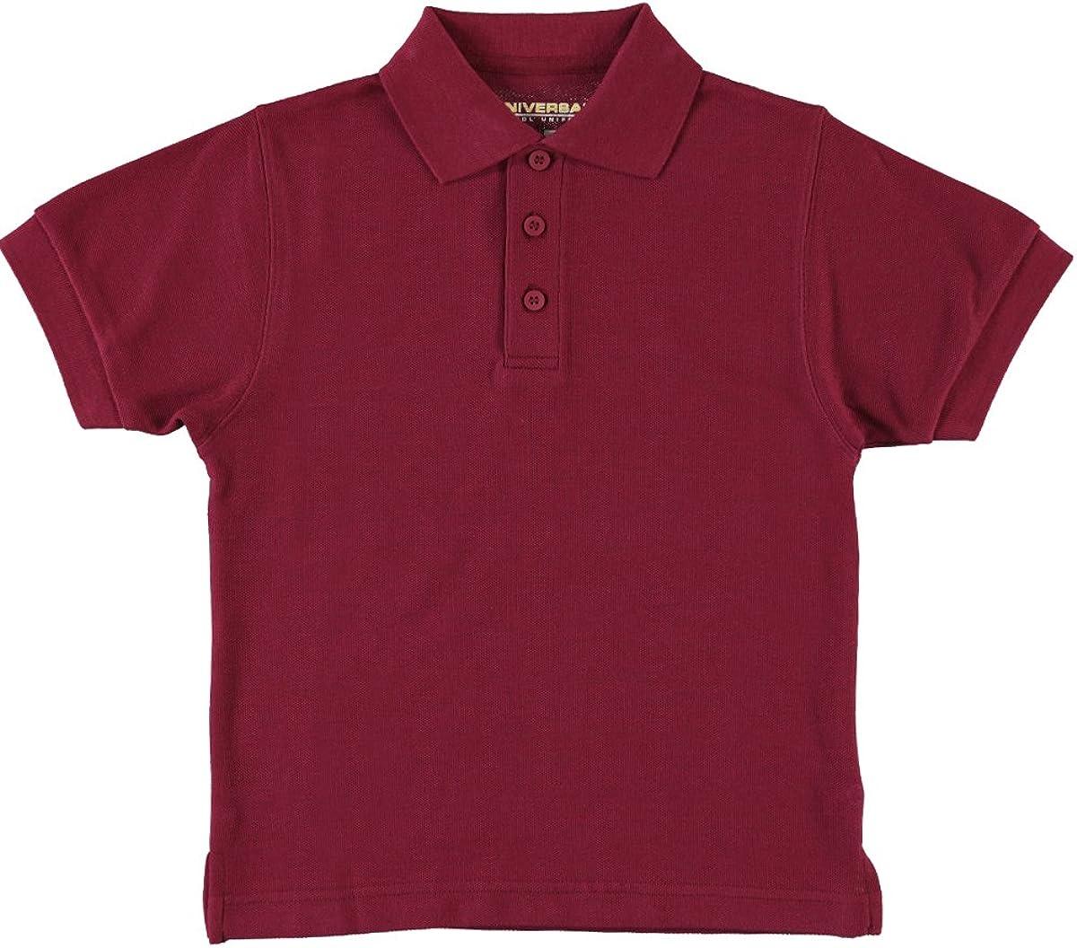 Universal School Uniform Baby Boys Short Sleeve Pique Polo Burgundy Size 2T