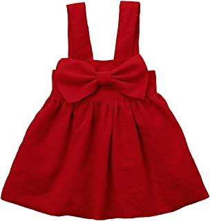 red overall dress toddler