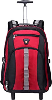 Men Women Trolley Backpack Computer Bag - Rolling Backpack Hand Bag Business backpack Student Schoolbag Ultralight Luggage Durable Bag Waterproof Outdoor Travel Camping High Capacity for Boys Girls