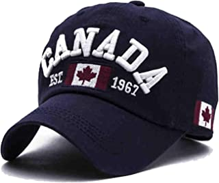 HiiWorld 2019 New Cotton Canada Baseball Cap Flag of Canada Hat Snapback Adjustable Mens Baseball Caps Brand Golf Hats