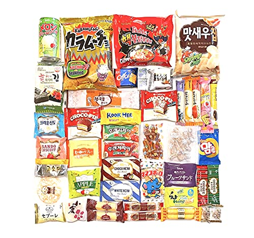 Ultimate Japanese and Korean Snack Box  - Variety Assortment of Japanese Snacks and Korean Snacks chips cookie asian snacks