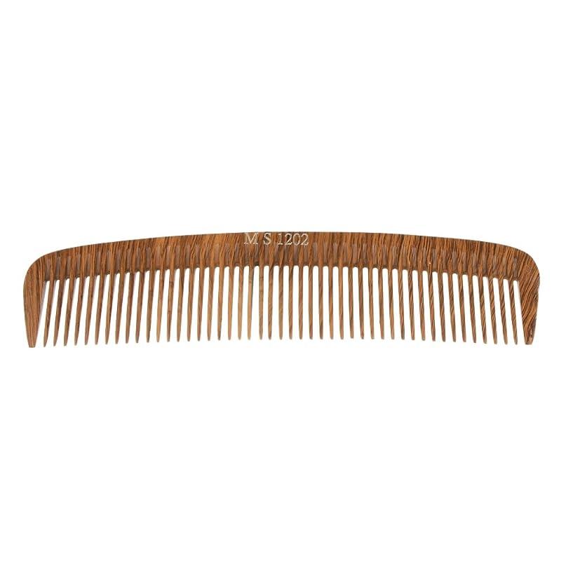 然とした全能バケツPerfk ヘアカットコーム コーム 木製櫛 くし ヘアブラシ ウッド 帯電防止 4タイプ選べる - 1202