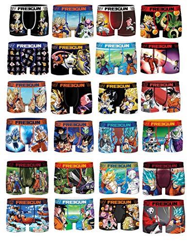 Freegun Boxershorts aus Mikrofaser, verschiedene Modelle je nach Verfügbarkeit, mehrfarbig, 4er Pack Boxershorts mit Überraschung Dragonball, L