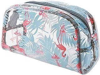 Flamingo PVC Zipper Clear Protable Toiletry Comestic Makeup Bag Pencil Case