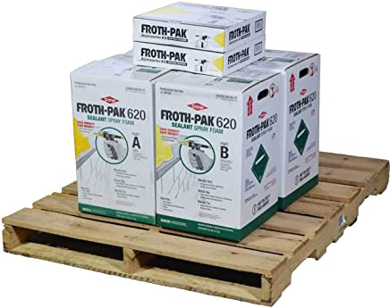 Dow Froth Pak 620, 2 Spray Sealant Kits, Closed Cell Foam, Covers 1240