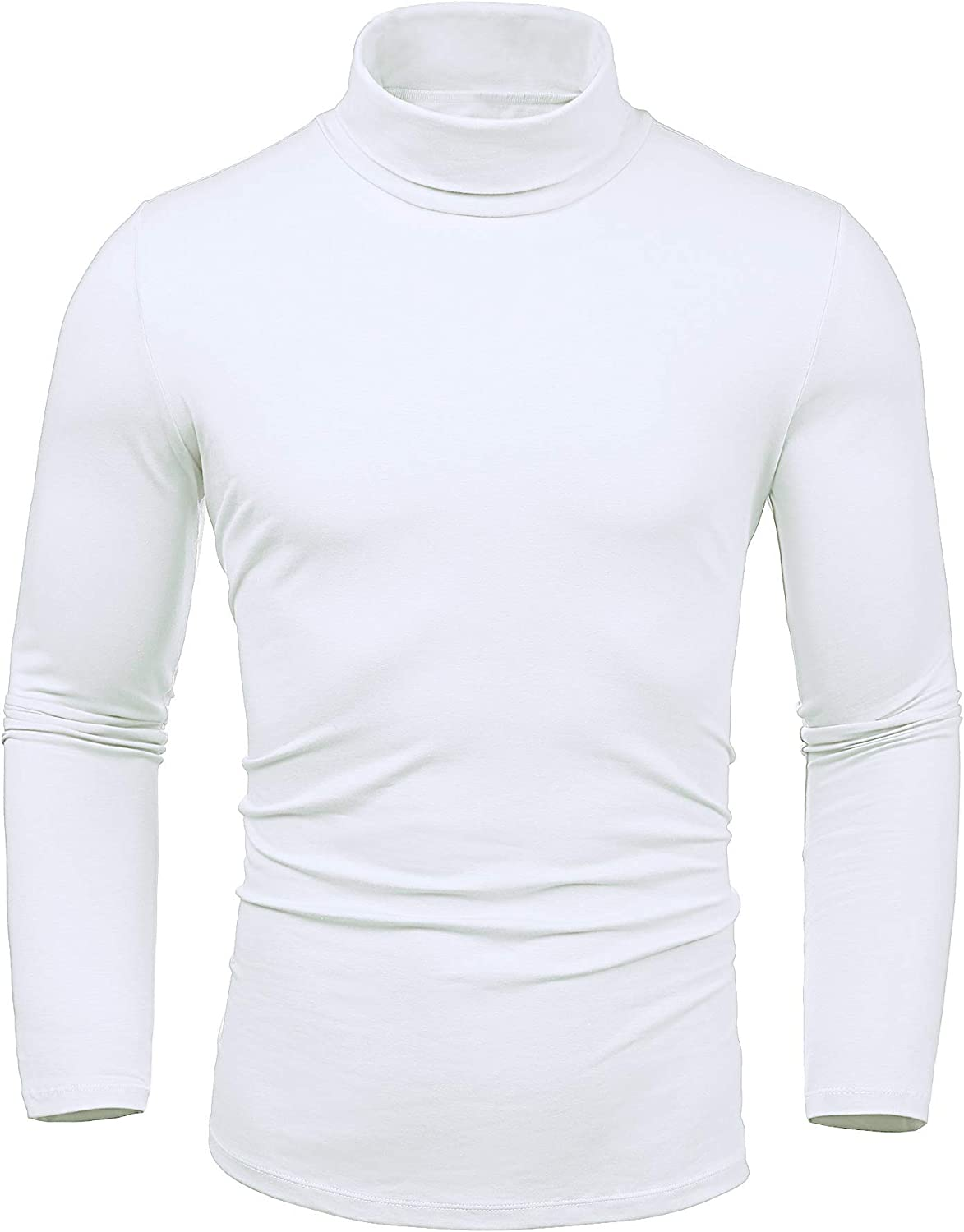 LecGee Men's Slim Fit Basic Thermal Turtleneck T Shirt Long Sleeve Casual Pullover Shirts