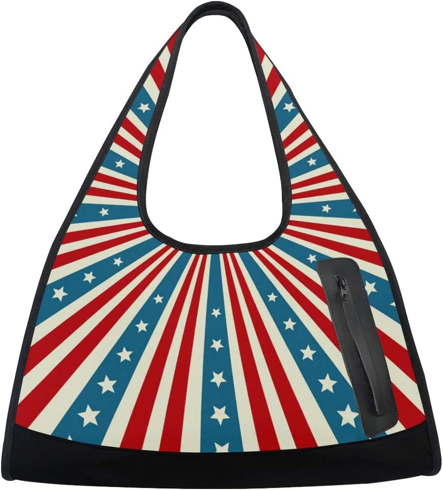 America Flag Elements Women Sports online shopping Max 88% OFF Gym Multi-Function Totes Bag